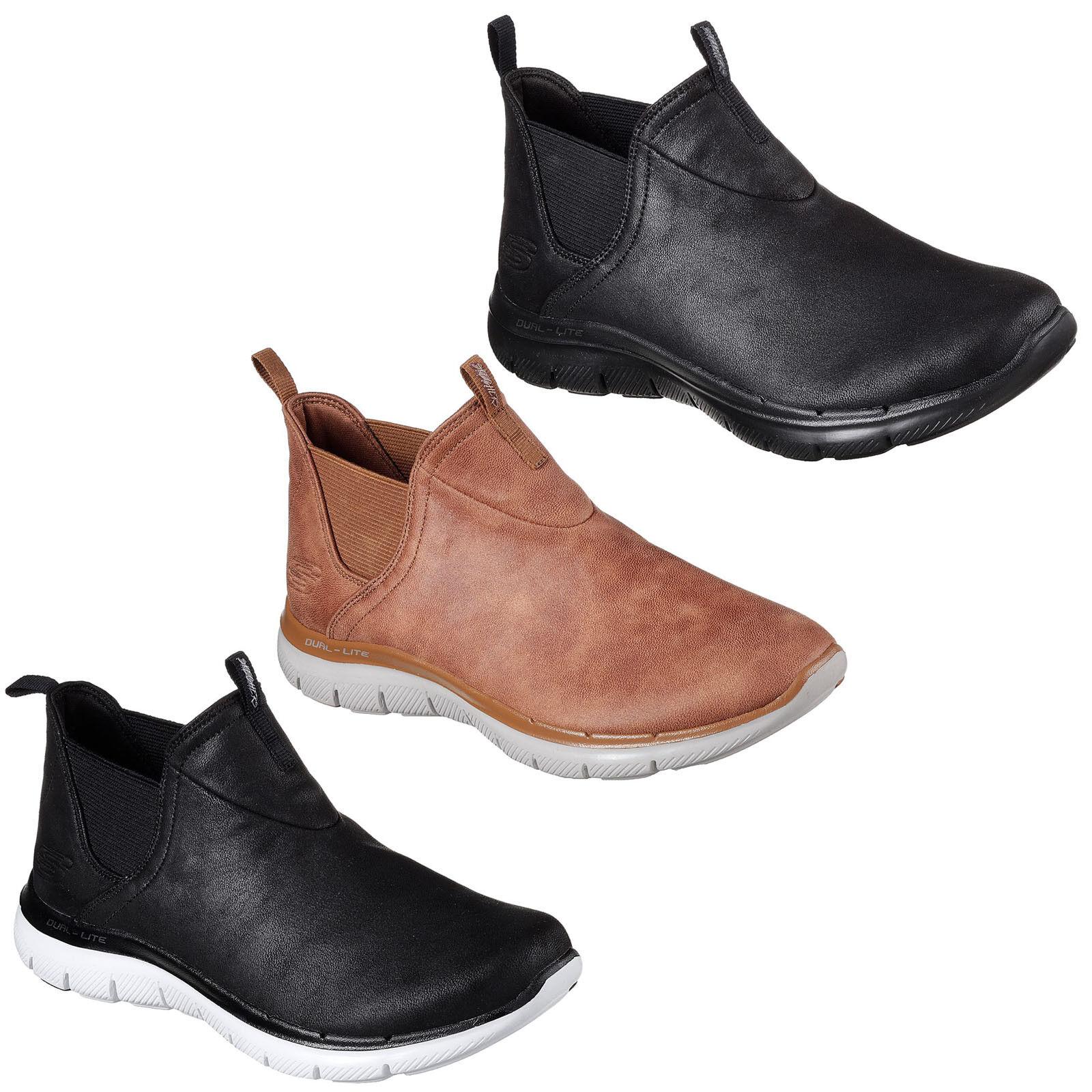 Skechers Flex Appeal 2.0 Done Deal Ankle Boots Womens Memory Foam Winter shoes