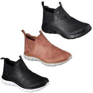 Détails sur Skechers Flex Appeal 2.0 PROMO terminée Bottines pour femme en mousse à mémoire Hiver Chaussures afficher le titre d'origine