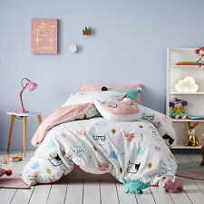 Kitty Dreams cat Cats DOUBLE full bed Quilt Doona Duvet Cover set new ADAIRS