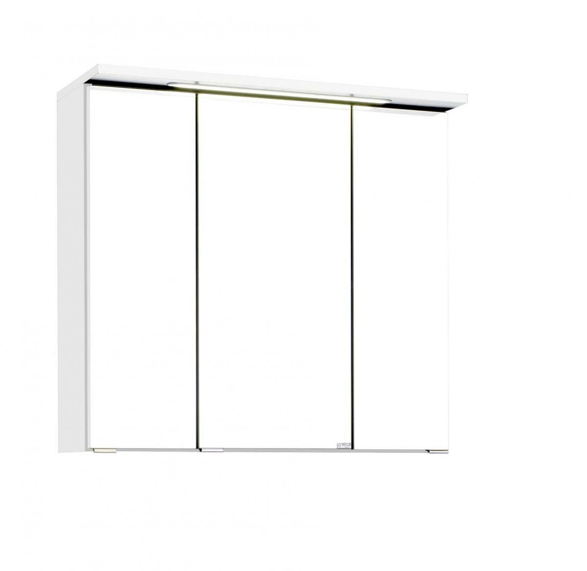 Bad Spiegelschrank Spiegelschrank Spiegelschrank 3D LED Wand Lichtspiegel B  70 cm 3 türig Held Bologna weiß 65a50c