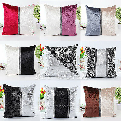 "18"" Thick Black White Splice Throw Pillow Case Cushion Cover Sofa Bed Home Decor"