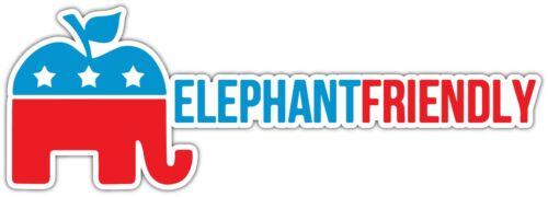 "Rand Paul Elephant Friendly GOP Republican Car Bumper Vinyl Sticker Decal 8/""X3/"""