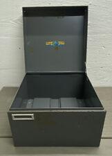 Vtg Steelmaster Metal Index Card Cabinet Drawer File Holder W Cards Steel Art