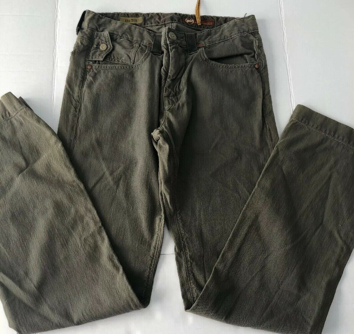 Adriano goldschmied Pants The Tilt Green Mens Sz 31 R NWOT