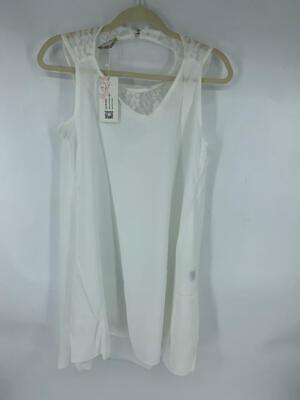 ACEVOG Womens Cold Shoulder Lace Chiffon Mini Patchwork Loose Casual Dress