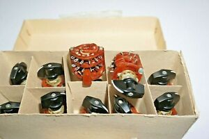 10x-Rotary-Switch-handle-NIB-2-pole-11positions-11p2t