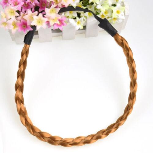 Neu Stirnband Haarband Elastic Bohemian Geflochtene Zopf geflochten Frauen