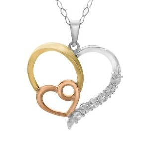 Heart-Pendant-with-Diamond-in-14K-Yellow-amp-Rose-Gold-Plated-Sterling-Silver