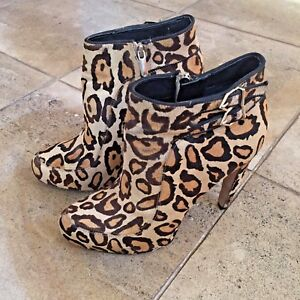 e358e21b5 Image is loading Sam-Edelman-Calf-Hair-Leather-Leopard-Print-034-