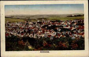 Rosswein Sachsen alte Ansichtskarte ~1910/20 Gesamtansicht Blick auf die Stadt