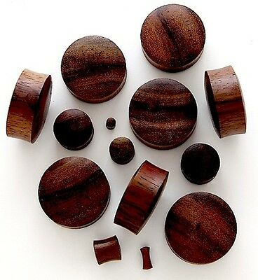 BROWN SONO WOOD DOMED ORGANIC HAND CARVED EAR STRETCHER PLUG FLESH TUNNEL 3-30mm