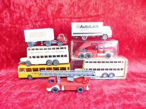 Set Vieux Modèles Réduits De Voitures__7 Wicking - Voitures __ Pompier,bus