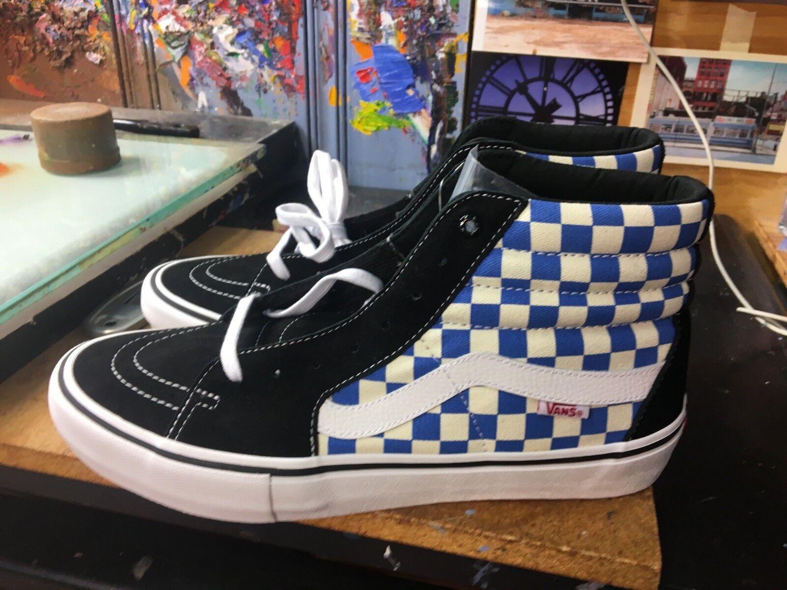 Vans SK8-Hi PRO (Checkerboard) Black/Victoria Blue Size US 12 Men's VN0A347TQ1L