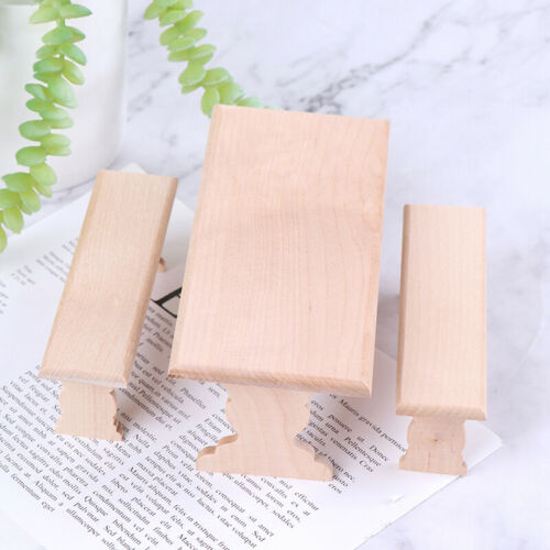 1:12 Dollhouse Mini Wooden Long Dining Table and 2 Bench Set Furniture Par FS