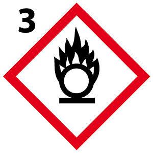 La Fourniture Comburant Lot 4 Stickers Autocollant Danger Interdit Obligatoire [10cm] Ghs3 Effet éVident