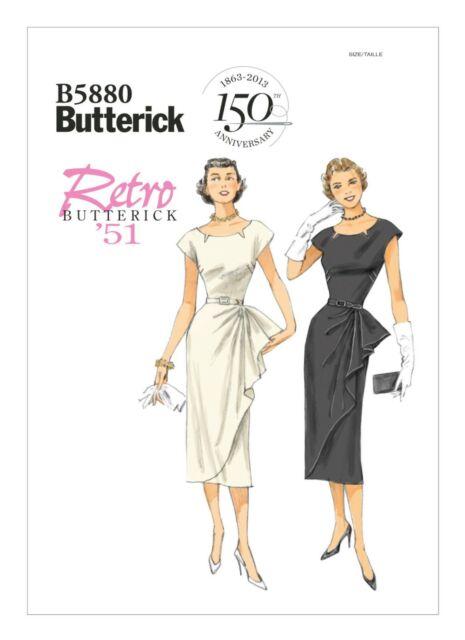 Patrones de costura para vestido de mujer instrucciones en ingl/és y alem/án Butterick B5456