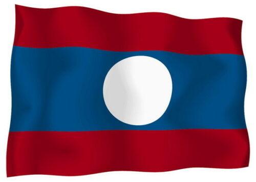Sticker decal vinyl decals national flag car ensign bumper laos