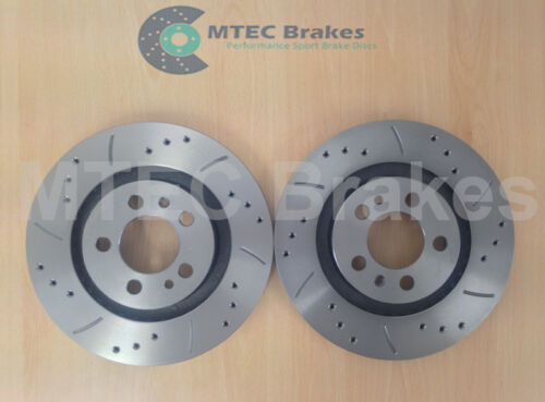 Bora 1.9 TDi 110 Drilled Grooved Brake Discs Front