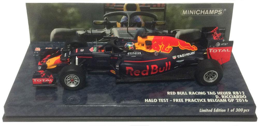 Minichamps rouge Bull RB12 Halo Test BELGIAN GP 2016-Daniel Ricciardo échelle 1 43