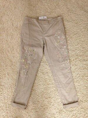 Womens Paint-Splattered Boyfriend Jeans New York /& Co Soho Jeans