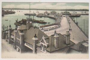 Hampshire-Cartolina-il-Pier-Southampton-Fgo-Stuart-N-688-A867