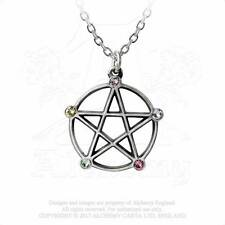 Alchemy Gothic Wiccan Elemental Pentacle Pentagram Star Pendant Necklace P786