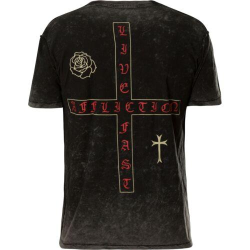 Schwarz Rev Last Bounty T shirt Affliction Maglietta Grau ItwOqW