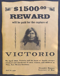 Western Old West Lakota Indian Crazy Horse Wanted Poster