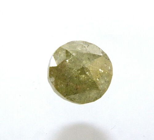 1.22Ct Natural Green Color Round Rose Cut Diamond both side useable /& polished