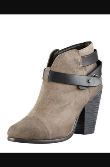 Rag & Bone Women's Women's Women's Harrow Waxed Suede Ankle Boot color Clay Taupe Size 37.5 445e49