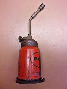 Vintage-PREPO-Small-PROPANE-BLOW-TORCH-Soldering-Brazing-Empty-Collectible-Can