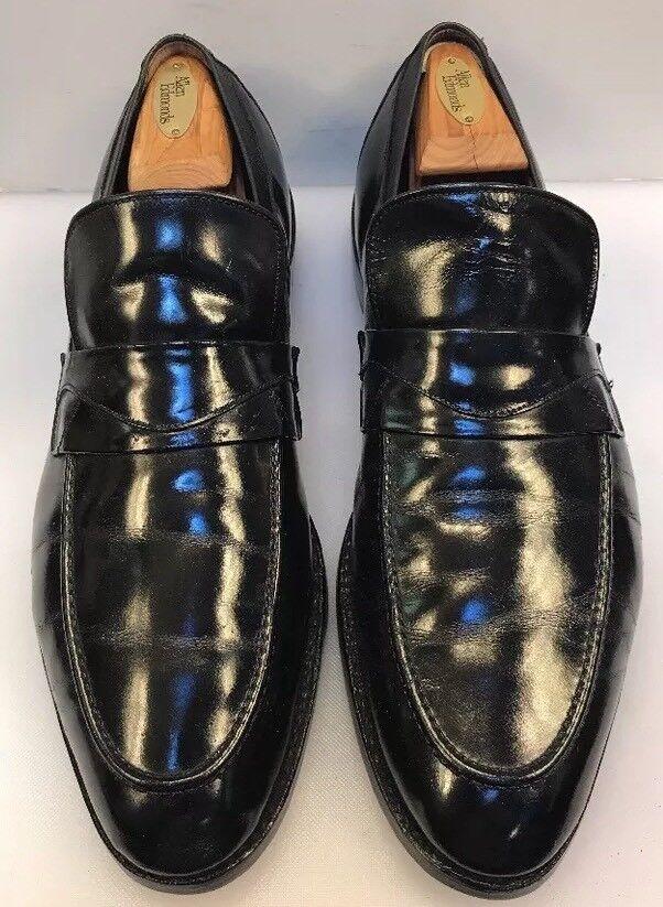 07a946710a7 Allen Edmonds Edmonds Edmonds Men 12 B Slip On Loafers shoes Black Patent  Leather Formal 3315