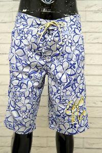 Costume-CALVIN-KLEIN-Uomo-Taglia-48-Mare-Piscina-Pantaloncino-Shorts-Rete-Blu