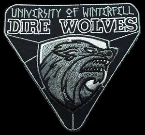 WINTER IS COMING GAME OF THRONES HOUSE STARK WOLF iron//sew//PATCH