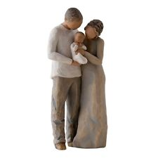 Willow Tree We Are Three Figurine 27268 Mum Dad & Baby in Branded Gift Box