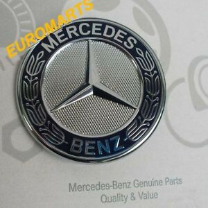 Genuine mercedes benz star emblem badge logo hood a b c e for Mercedes benz trunk emblem