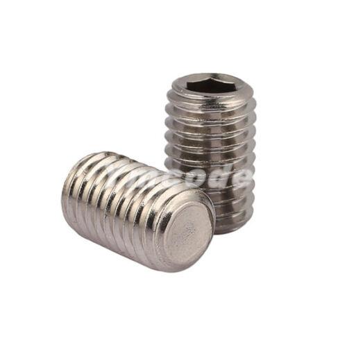 M8 8mm A2 Stainless Steel Flat Point Grub Hex Socket Set Screws DIN913