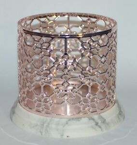 BATH-BODY-WORKS-FLORAL-ROSE-GOLD-MARBLE-LARGE-3-WICK-CANDLE-HOLDER-SLEEVE-14-5OZ