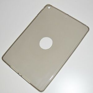 GUSCIO-in-silicone-per-Apple-iPad-Air-1-2-MINI-2-3-4-Trasparente-TPU-SPACE-GRIGIO-GREY