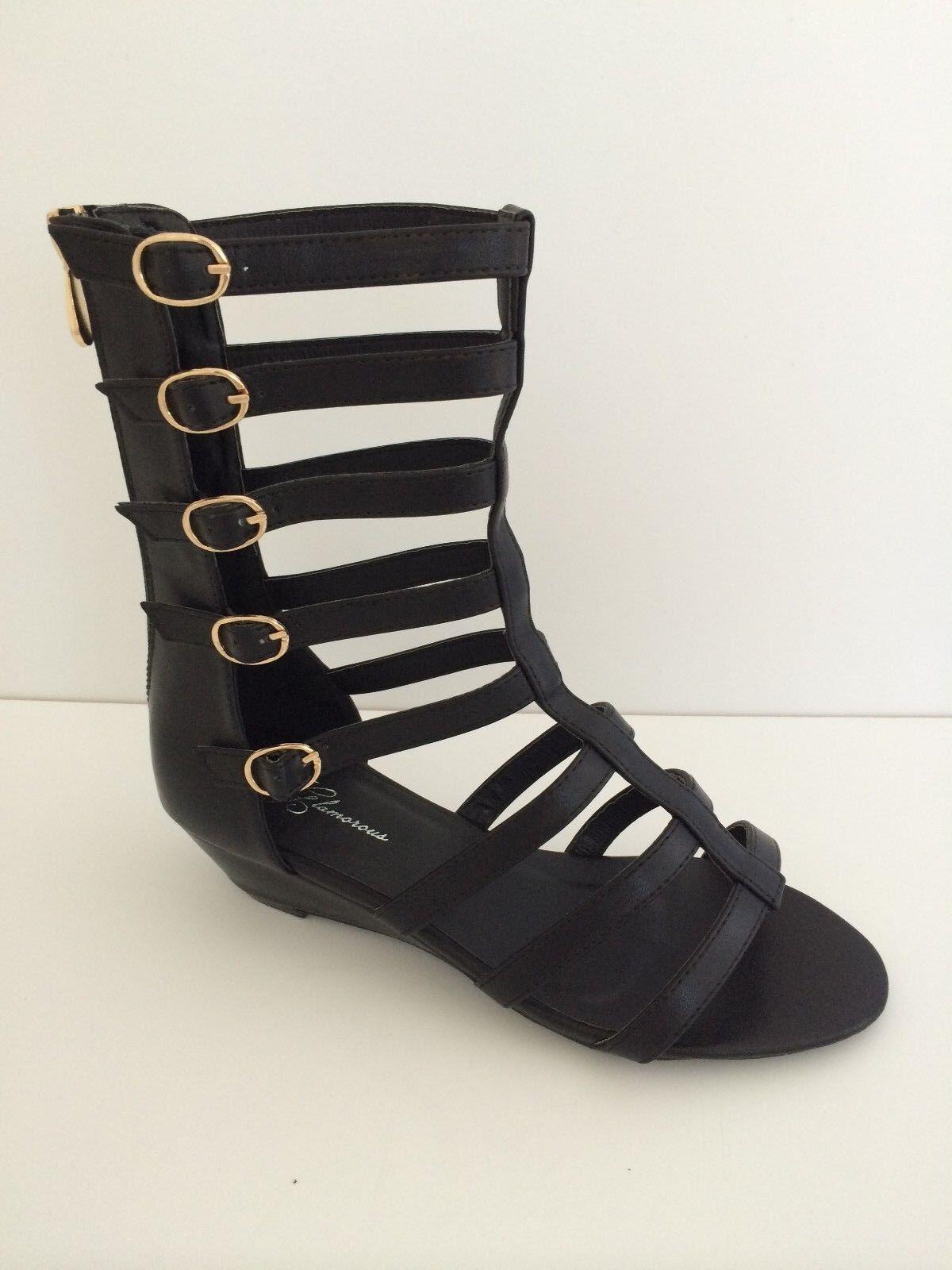 Final High Fashion Women Roman Gladiator Sandal Ankle High Final Leather Shoes w/ Zipper e0277e