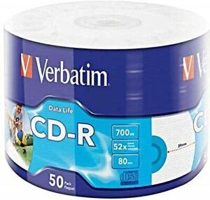 50-CD-R-VERBATIM-STAMPABILI-52X-700MB-PER-AUDIO-DATI-VIDEO-GAMES-43794-80min