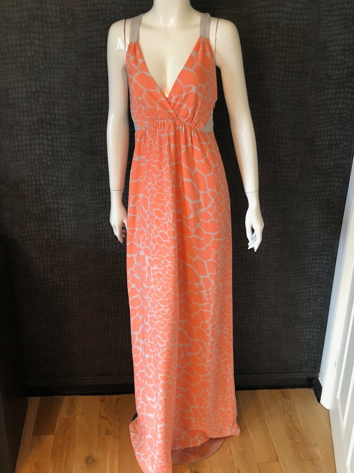 NEW WITHOUT TAGS - ARMANI EXCHANGE orange & NUDE DRESS SIZE US 6 -