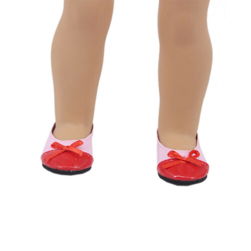 """Hot Handmade 18/"""" Inch American Girl Doll Accessories Bow Flat Shoes Single Shoes"""