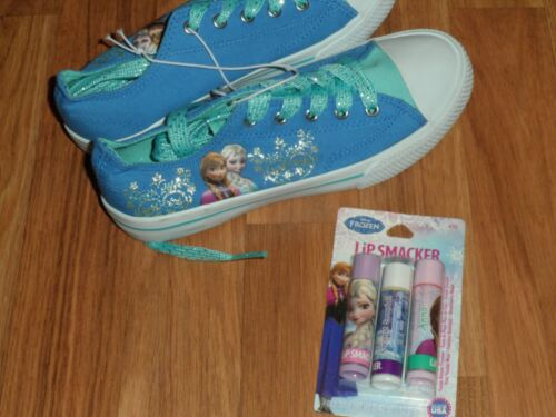 youth size 2 ~  Disney Frozen shoes /& Lip smackers