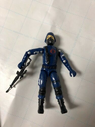 1983 Blue Shirt Soldier Army Builder With Gun CNP Black Major Army Builder