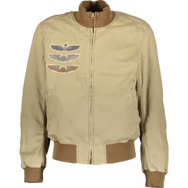 a40483ac1 Ralph Lauren Denim & Supply Military Twill Bomber Jacket Size L