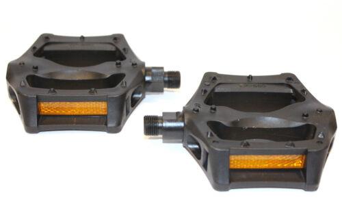 "PEDALS BMX 9//16/"" BLACK Block Platform All Purpose For Bike Bicycles MTB VP-560"