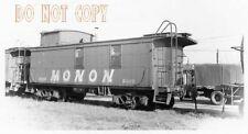 6F295 RP 1966 MONON  RAILROAD CABOOSE #80010 HAMMOND INDIANA