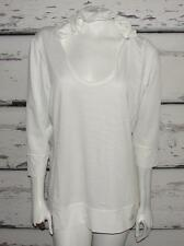 THE NORTH FACE~WHITE~STRIPED *HOODED* 3/4 SLEEVE~BEACH SWIMWEAR COVER-UP UPF~XL