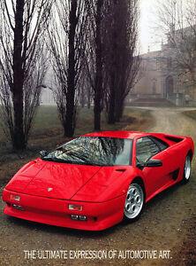 1991 1992 1993 Lamborghini Diablo Original Car Sales Brochure Folder